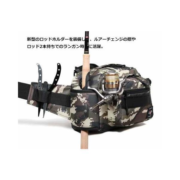 LSD ヒップバッグ ミディアムショット ネオ/ブラックカモ 釣り バッグ anglers-sarai 06