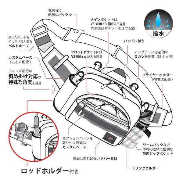 LSD ヒップバッグ ミディアムショット ネオ/カモフラ 釣り バッグ anglers-sarai 03