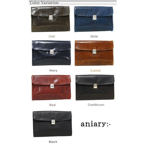 アニアリ・aniary クラッチ バッグ<br>【送料無料】アイディアルレザー Clutch 11-08001|aniary-shop|02