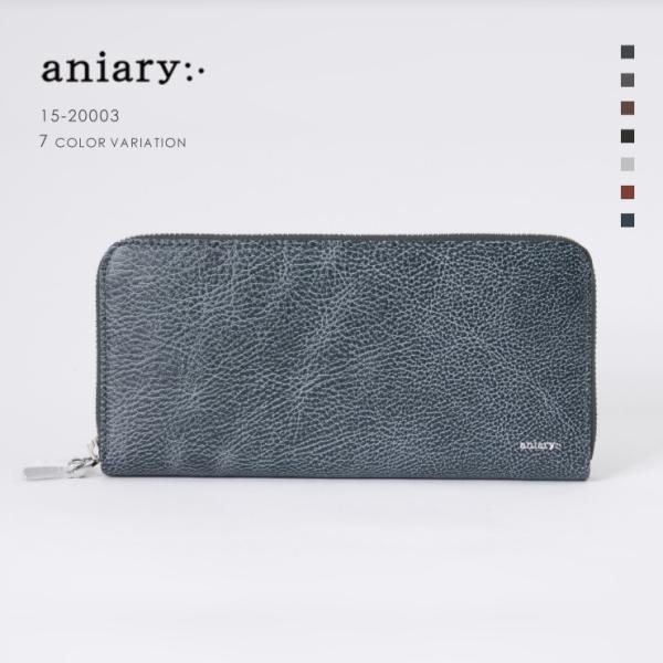 アニアリ・aniary 財布【送料無料】Grind Leather 牛革 Wallet 15-20003|aniary-shop