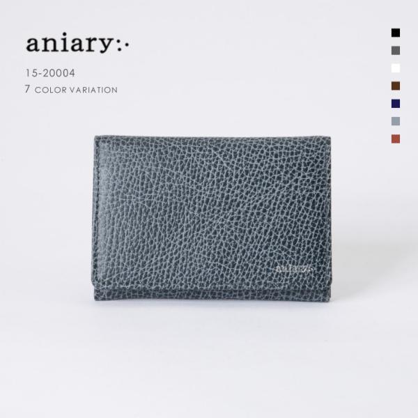 アニアリ・aniary 名刺入れ【送料無料】Grind Leather牛革 Card Case 15-20004|aniary-shop