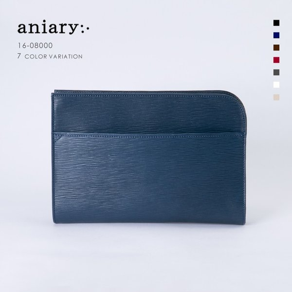 【aniary|アニアリ】Wave Leather ウェーブレザー 牛革 Clutch クラッチバッグ 16-08000 [送料無料]|aniary-shop