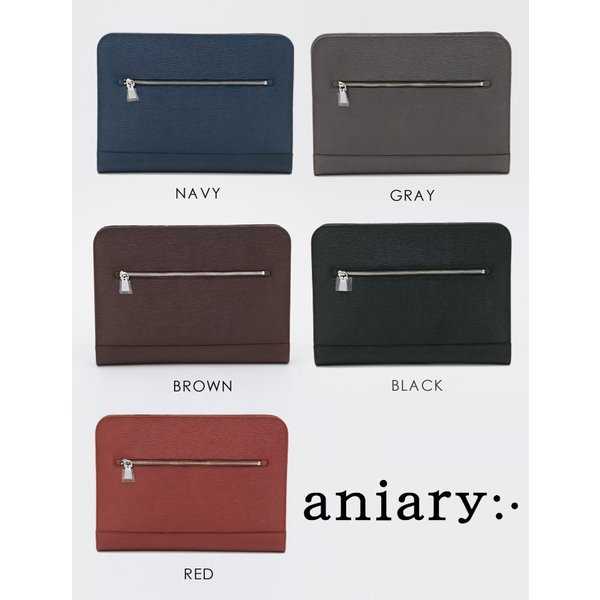 アニアリ・aniary クラッチバッグ【送料無料】Wave Leather 牛革 Crutch Bag 16-08001|aniary-shop|02