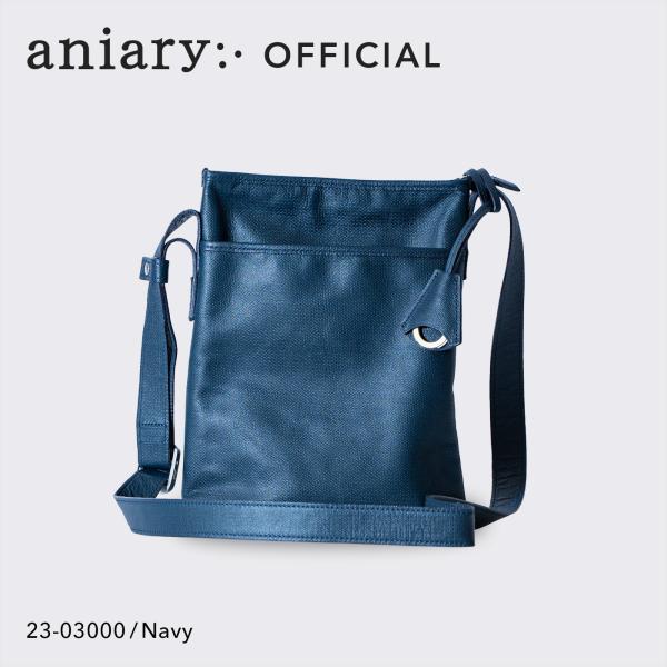 ショルダーバッグ メンズ アニアリ・aniary クロッシングレザー 牛革 Shoulder 23-03000|aniary-shop