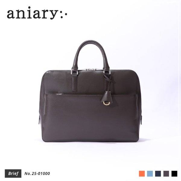 【aniary アニアリ】Grid Leather グリッドレザー 牛革 Brief ブリーフケース 25-01000 [送料無料] aniary-shop