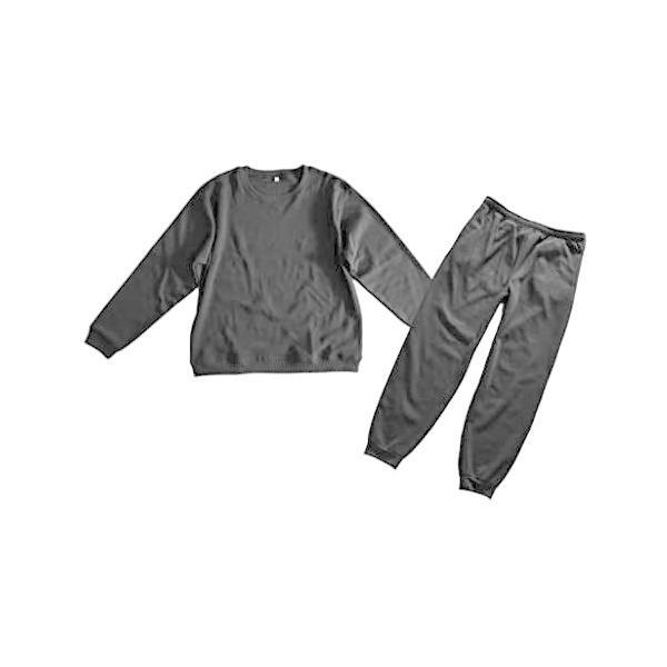 裏起毛ウォームスウェットセットアップ上下セット暖かルームウェア大きいサイズ3L4Lパジャマ部屋着(ブラック4L)