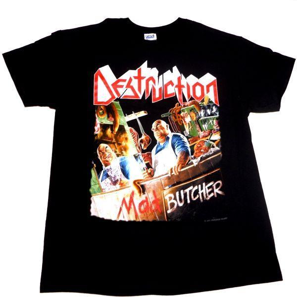 【メール便対応可】DESTRUCTION デストラクション  MAD BUTCHER オフィシャル バンドTシャツ|animal-rock