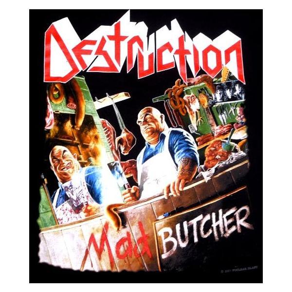 【メール便対応可】DESTRUCTION デストラクション  MAD BUTCHER オフィシャル バンドTシャツ|animal-rock|02