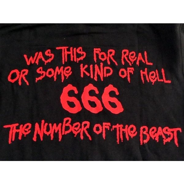 iron maiden アイアンメイデン number of the beast hoodie オフィシャル