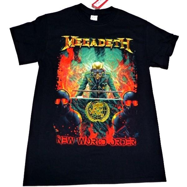 MEGADETH メガデス NEW WORLD ORDER オフィシャルバンドTシャツ / 2枚までメール便対応可