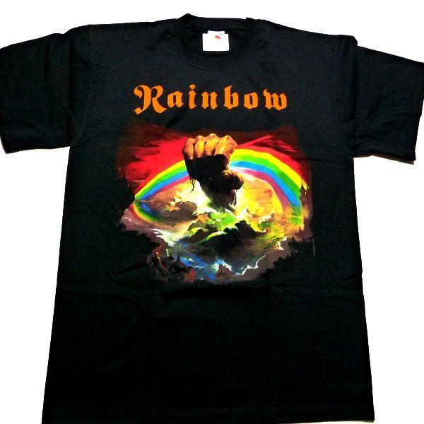 RAINBOW  レインボー  rising  オフィシャル バンドTシャツ / 2枚までメール便対応可|animal-rock