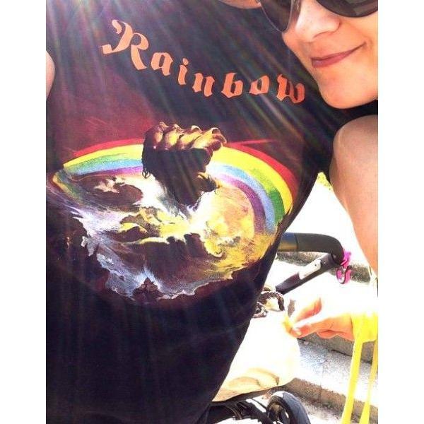 RAINBOW  レインボー  rising  オフィシャル バンドTシャツ / 2枚までメール便対応可|animal-rock|03