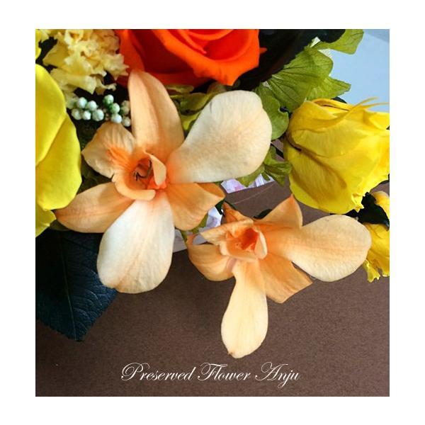 プリザーブドフラワー ギフト アレンジ 彩り 元気のでるビタミン色  華やか お祝い 贈り物 オールプリザーブドフラワー|anju87|06