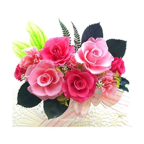 プリザーブドフラワー アレンジメント ギフト ストロベリーローズ ピンクローズ 春のお祝いに 祝 |anju87