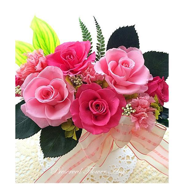 プリザーブドフラワー アレンジメント ギフト ストロベリーローズ ピンクローズ 春のお祝いに 祝 |anju87|04