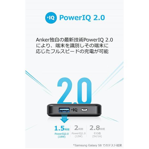 Anker PowerCore II Slim 10000 大容量 モバイルバッテリー PSE認証済 10000mAh Quick Charge入出力 iPhone Android各種対応|ankerdirect|03