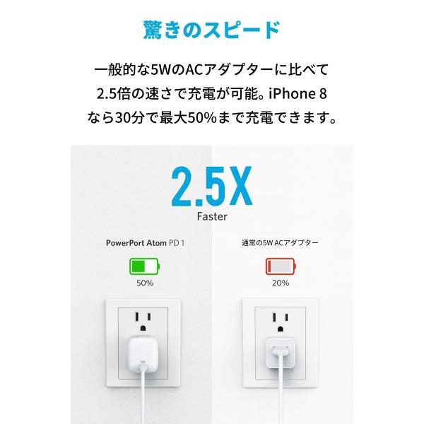 急速充電器 Anker PowerPort Atom PD 1 PD対応 30W USB-C GaN 窒化ガリウム 採用Power Delivery対応超コンパクトサイズ|ankerdirect|03
