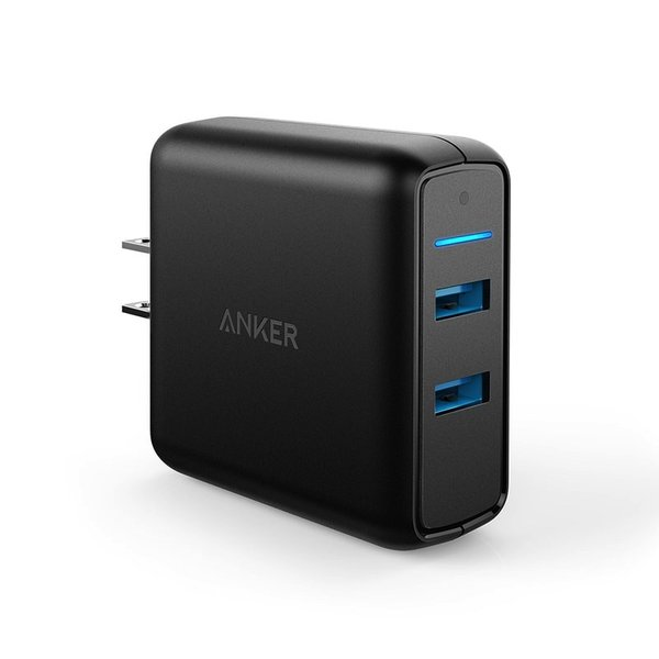 Anker PowerPort Speed 2 USB充電器 2ポート QC3.0搭載 39.5W iPhone Android各種対応|ankerdirect