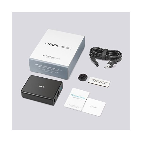 USB充電器 5ポート Anker PowerPort+ 5 USB-C Power Delivery 60W  急速充電 USB-C 新しいMacBook iPhone iPad Android 各種他対応|ankerdirect|06