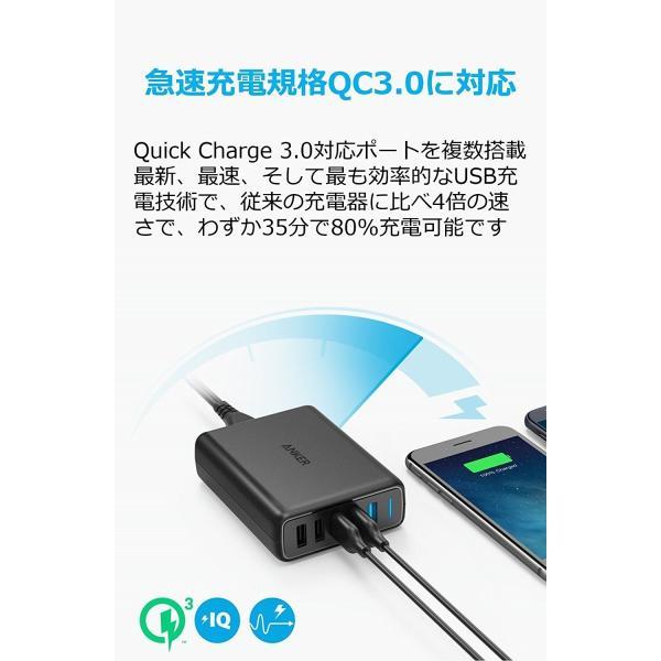 USB充電器 5ポート Anker PowerPort Speed 5 Anker正規販売店 QC3.0 急速充電 搭載 63W  iPhone Android各種対応 海外対応 AC アダプター ankerdirect 02