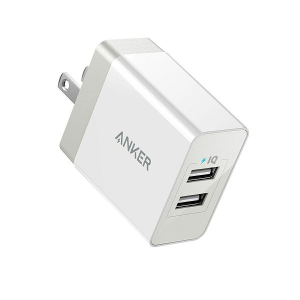 USB充電器 2ポート Anker PowerPort 2 Eco 12W 急速充電 iPhone iPad  MacBook Android 各種対応 折り畳み式プラグ  PowerIQ  VoltageBoost|ankerdirect