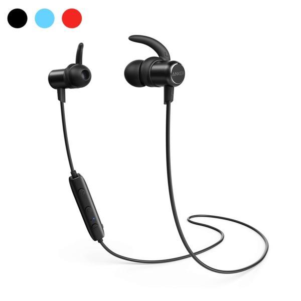 Bluetoothイヤホン ブルートゥースイヤホン Anker SoundBuds Slim カナル型 マグネット機能 防水規格IPX4 内蔵マイク搭載 iPhone Android各種対応|ankerdirect