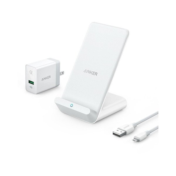 Anker PowerWave 7.5 Stand ワイヤレス充電器 7.5W Quick Charge 3.0対応急速充電器付属 iPhone X 8 8 Plus Galaxy各種対応
