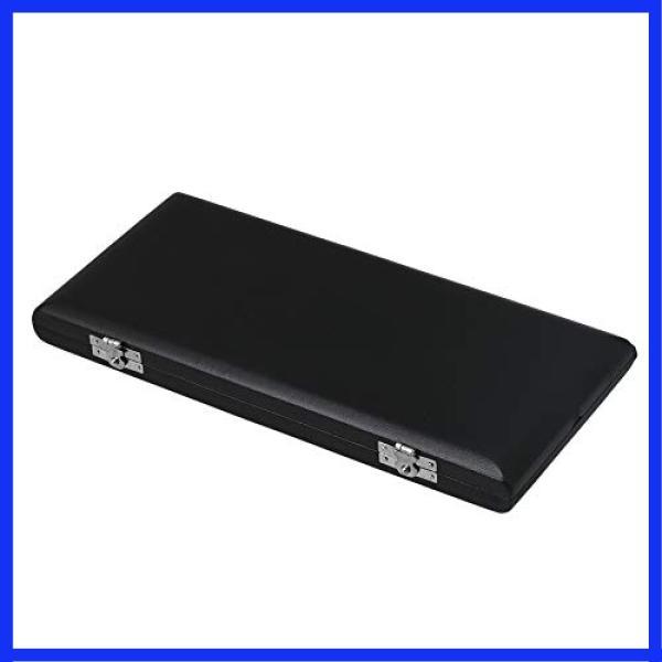 ファゴットリードケース10本リード収納用ファゴット対応防湿通気性良いPUレザーと木製ブラック&グレー20x