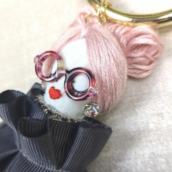 レディース バッグチャーム キーホルダー 人形  ドールチャーム オシャレ  おしゃれ かわいい プレゼント