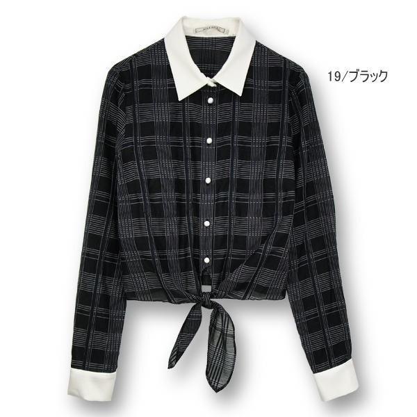 セール SALE70%OFF アウラアイラ シャツ LAWNチェックシャツ AULA AILA レディース 通販 コーディネート コーデ 服|annie-0120|02
