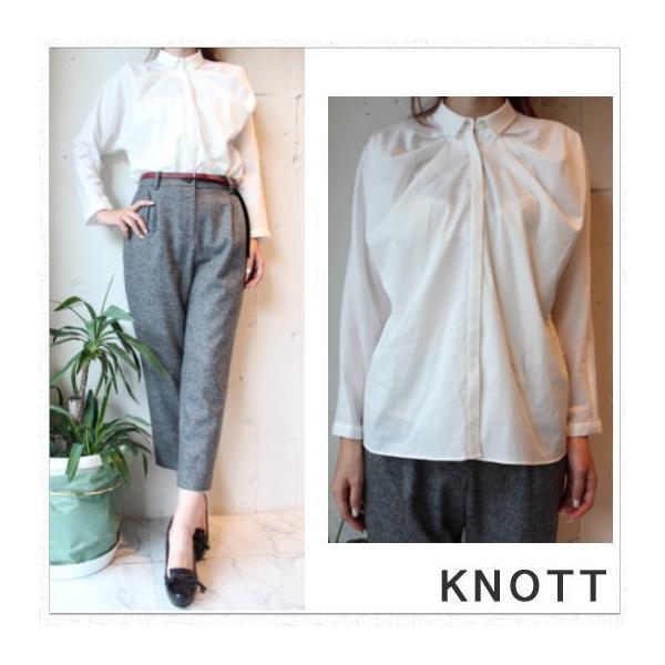 期間限定10%OFF KNOTT(ノット)カルゼSTタックシャツ|annie-0120