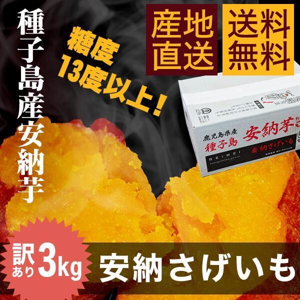 【送料無料・訳あり】種子島産安納芋3kg|あんのういも|さつまいも|ワケアリ|annouimoreimei
