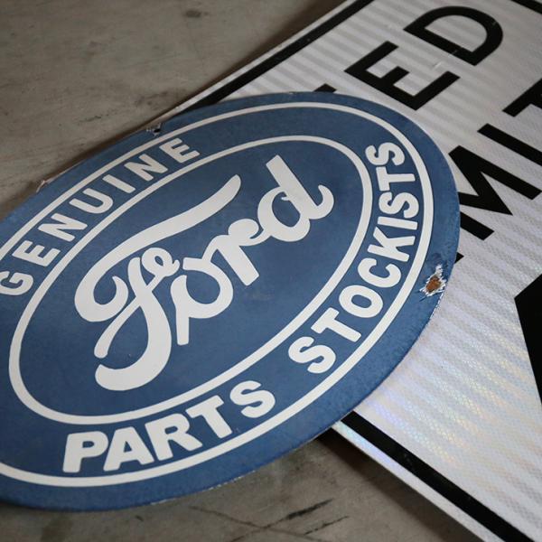 フォードパーツサインアンティーク加工