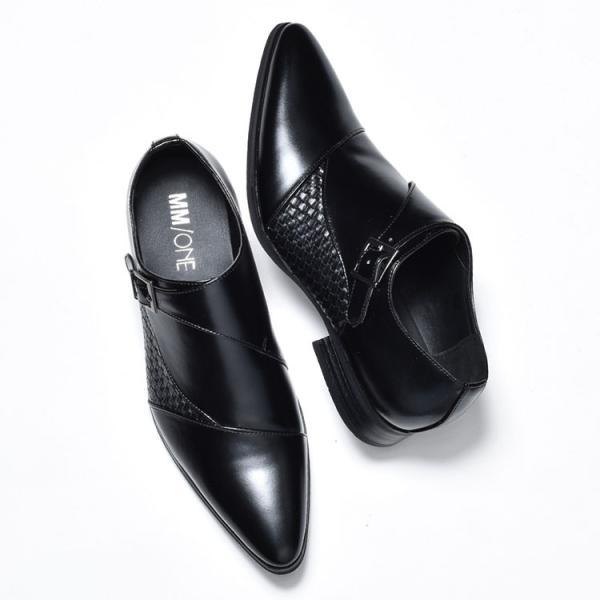 ビジネスシューズ メンズ 靴 PU革靴 プレーントゥ ローファー|anothernumber|03