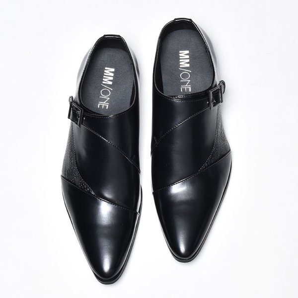 ビジネスシューズ メンズ 靴 PU革靴 プレーントゥ ローファー|anothernumber|05