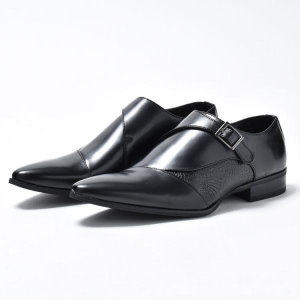 ビジネスシューズ メンズ 靴 PU革靴 プレーントゥ ローファー|anothernumber|06