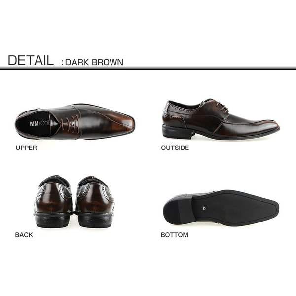ビジネスシューズ メンズ PU革靴 靴 プレーントゥ|anothernumber|03
