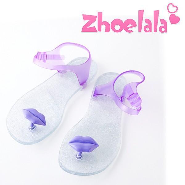 リップパープル Zhoelala(シューララ) サンダル レディース ビーチサンダル 海 ぺたんこ おしゃれ 履きやすい
