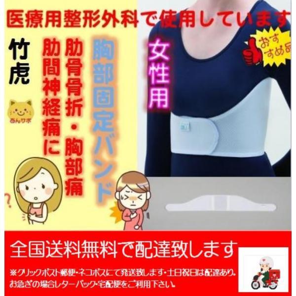 アドール1型  女性用 胸部バンド・サポーター 竹虎  肋骨骨折 肋間神経痛 胸部痛 背中の痛み anshinkobayashi