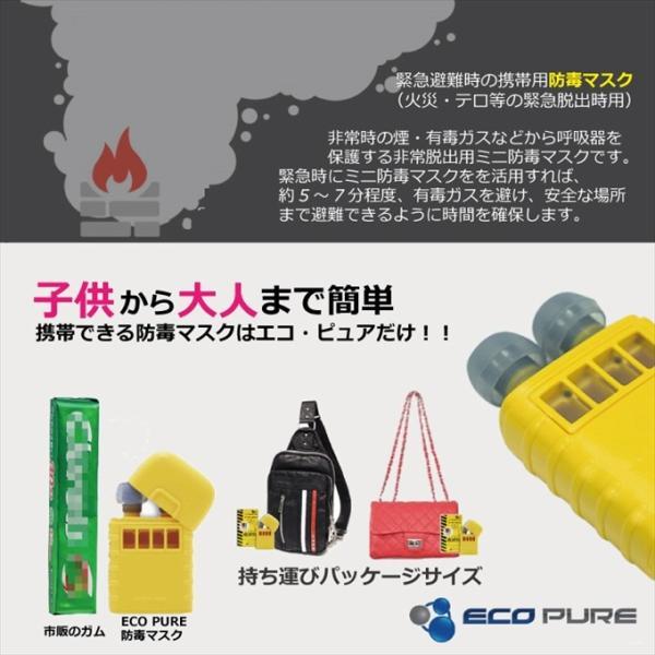 防毒マスク ガスマスク 火災・テロなどの緊急脱出時に 子どもでも簡単使用 携帯できる緊急避難用防毒マスク エコ・ピュア OA-687|anshinlife|04