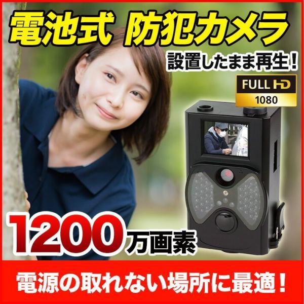 電源不要 乾電池稼働 トレイルカメラ 不法投棄 動物調査 防犯 動体検知 防滴 赤外線 暗視 TCM1080 anshinlife
