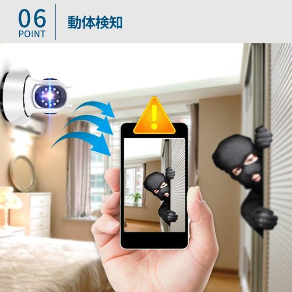 防犯カメラ 監視カメラ ベビーモニター ペットモニター ワイヤレス 遠隔 243万画素 WiFi無線接続可能 暗視 動体検知 SD録画 信号強度版 2アンテナ LS-F2-ver2|anshinsokubai|11