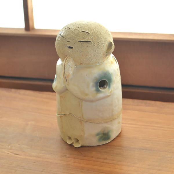 香皿 地蔵香彩器 「小」 香彩器 香立て 陶器 日本製 和風 和柄 スティック コーン 贈り物 ギフト プレゼント お線香立て お香 アロマ