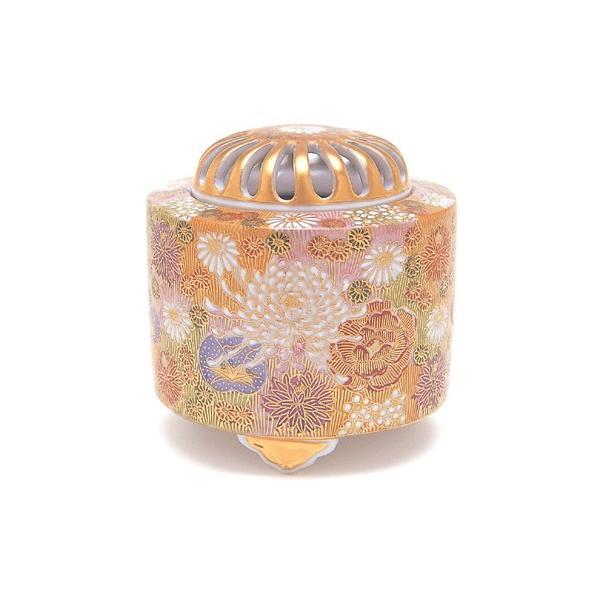 日本香堂 3.5号 金花詰 九谷焼 陶器製 陶器 九谷焼 仏具 仏具単品 香炉 送料無料