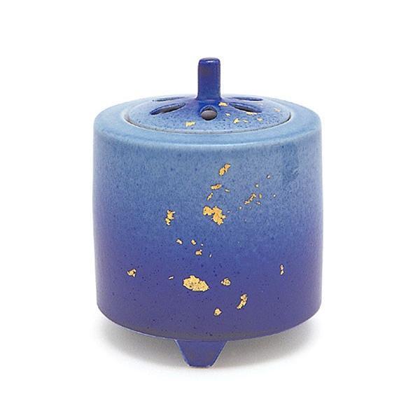 日本香堂 3号釉彩 金箔 九谷焼 ユサイ キンパク 陶器製 陶器 九谷焼 仏具 仏具単品 香炉 送料無料