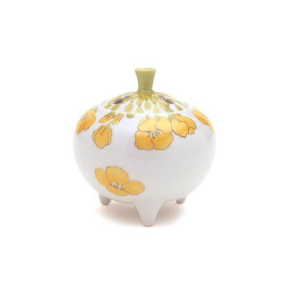 日本香堂 菜の花 九谷焼 早房 陶器製 陶器 九谷焼 仏具 仏具単品 香炉 送料無料