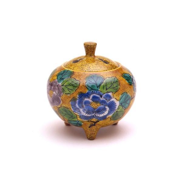 日本香堂 吉田屋牡丹 九谷焼 陶器製 陶器 九谷焼 仏具 仏具単品 香炉 送料無料