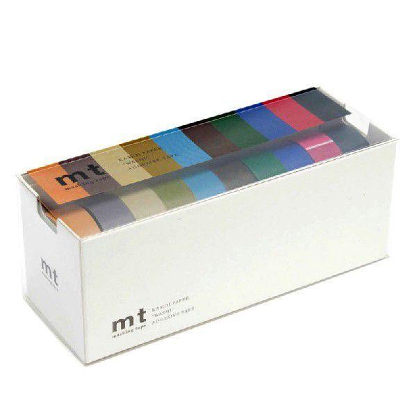 mt マスキングテープ 10色セット 渋い色2 15mm幅×10m巻き MT10P0004 MT10P004 おしゃれ かわいい カモ井加工紙 10パック ノーブ