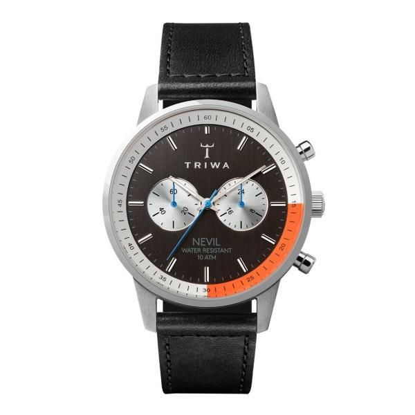 d48d6697e7 トリワ 腕時計 NEST123-SC010112 ブラック/オレンジ/シルバー ユニセックスの画像