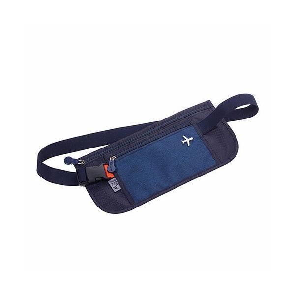 TROIKA トロイカ シートベルト ダークブルー TR-BLB20/DB  セキュリティポーチ パスポートケース カードケース データセーフ DAT